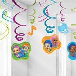 Bubble Guppies Party Swirl Decorations