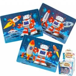 Party Favour Space Robot Mini Jigsaw Puzzles
