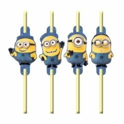 Despicable Me Minions Party Straws