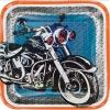 Motor Cycle Shop Party Plates