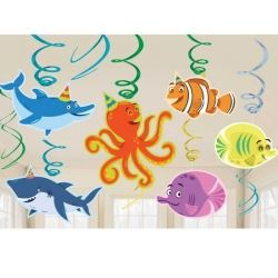 Ocean Buddies Party Decoration Swirls