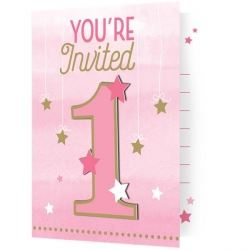 One Little Star Party Invitations
