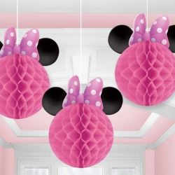 Minnie Mouse Party Honeycomb Decorations