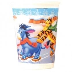 Winnie The Pooh Skating Christmas Party Cups