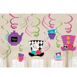 Mad Hatters Tea Party Swirl Decorations
