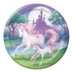 Unicorn Fantasy Party Plates