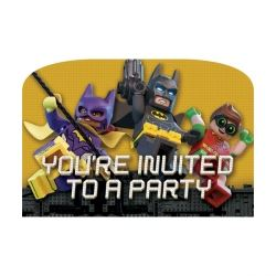LEGO Batman Movie Party Invitations