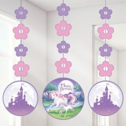 Unicorn Fantasy Party Dangler Decorations