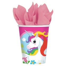 Rainbow Unicorn Party Cups