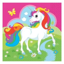 Rainbow Unicorn Party Napkins