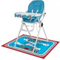 All Aboard Steam Train Birthday Party High Chair Kit