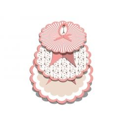 A Day In Paris Party Cup Cake Stand