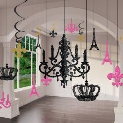 A Day In Paris Glitter Chandelier Decorating Kit
