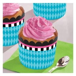 Mad Hatter Tea Party Large Cup Cake Cases