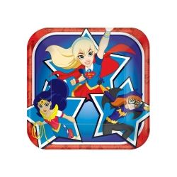 DC Super Hero Girl Party Lunch Plates
