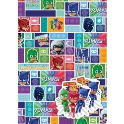 PJ Masks Party Gift Wrap and Gift Tags