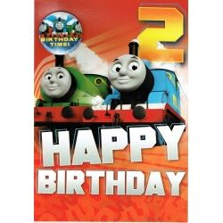 Thomas The Tank Birthday Card Age 2 With Badge