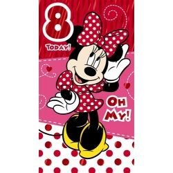 Minnie Mouse Birthday Card Age 8