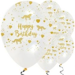 Unicorn Sparkle Party Gold Party Balloons