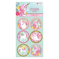Magical Unicorn Iridescents Party Stickers