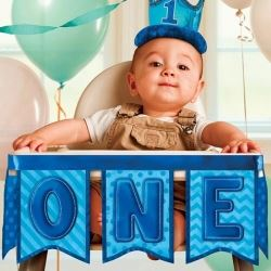 1st Birthday Boy Deluxe High Chair Kit