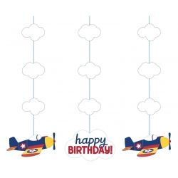 Lil Flyer Airplane Party Dizzy Dangler Decorations