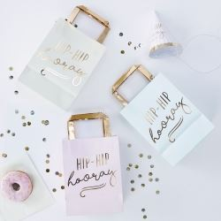 Pastel Hip Hip Hooray Party Bags