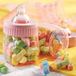 Baby Pink Plastic Fillable Bottles Favours