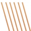 Rose Gold Metallic Paper Party Straws