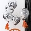 Black Confetti Party Balloons