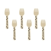 Wooden Buffet Forks Black