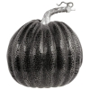 Halloween Black & Silver Pumpkin