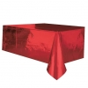 Red Metallic Foil Tablecover