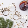 Gold Foiled Festive Selfie Party Glasses