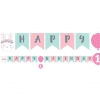 Birthday Bunny Party Ribbon Banner