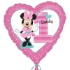 Disney Minnie Mouse Party 1st Birthday Foil Balloons