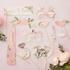 Team Bride Floral Party Photo Booth Prop Kit