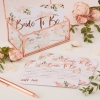 Team Bride Floral Party Advice Cards