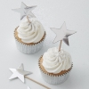 Ginger Ray Silver Foiled Star Cupcake Toppers