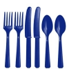 Navy Blue Cutlery Party Set
