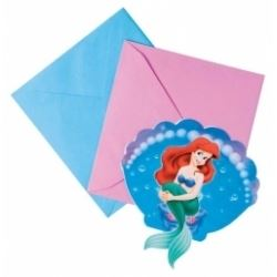 Ariel The Little Mermaid Party Invitations