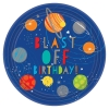 Blast Off Birthday Party Plates