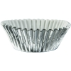 Silver Metallic Party Cup Cake Cases