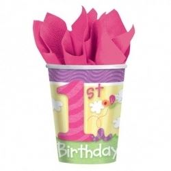 One Special Girl 1st Birthday Party Cups
