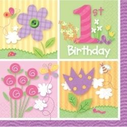 One Special Girl 1st Birthday Party Napkins