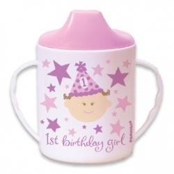 1st Birthday Girl Party Sippy Cup
