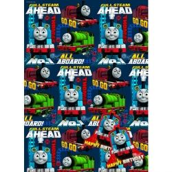 Thomas The Tank Engine Gift Wrap And Tags