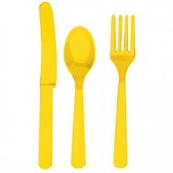 Yellow Party Cutlery Sets
