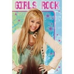 Hannah Montana Birthday Card Girls Rock