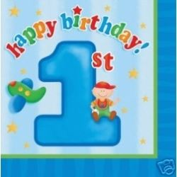 1st Birthday Fun To Be One Boy Party Napkins